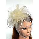 Χαμηλού Κόστους Μοδάτο Κολιέ-Τούλι / Φτερό / Δίχτυ Γοητευτικά / Καπέλα / Βιτρίνα Πτηνών με 1 Γάμου / Ειδική Περίσταση Headpiece