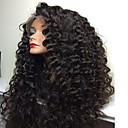 Χαμηλού Κόστους Κάμερα CCTV-Φυσικά μαλλιά Πλήρης Δαντέλα Χωρίς Κόλλα Πλήρης Δαντέλα Περούκα στυλ Βραζιλιάνικη Σγουρά Kinky Curly Περούκα 180% Πυκνότητα μαλλιών 8-26 inch / Φυσική γραμμή των μαλλιών / 100% δεμένη στο χέρι