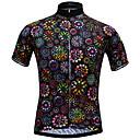 povoljno Biciklističke majice-JESOCYCLING Žene Kratkih rukava Biciklistička majica Crn Cvjetni / Botanički Bicikl Biciklistička majica Majice Brdski biciklizam biciklom na cesti Prozračnost Quick dry Ultraviolet Resistant Sportski