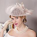 billiga Europeiska kostymer-Lin / Bergkristall / Fjäder Kentucky Derby Hat / fascinators / hattar med Blomma 1st Bröllop / Speciellt Tillfälle / Utomhus Hårbonad