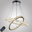 저렴한 샹들리에-펜던트 조명 엠비언트 라이트 일렉트로플레이티드 금속 크리스탈, 밝기조절가능, LED 110-120V / 220-240V LED 광원 포함 / 집적 LED