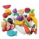 ราคาถูก ชุดเครื่องครัวและทำอาหารของเล่น-lowood ชุดครัวของเล่น อาหารของเล่น Pretend Play ผัก Magnetic พลาสติก สำหรับเด็ก เด็กผู้ชาย เด็กผู้หญิง Toy ของขวัญ 21 pcs