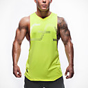 billiga Löparkläder-Herr Gymlinne Klassisk Neon grön Mörkblå Grå Bomull Löpning Motion & Fitness Fritid Sport Sport Sportkläder Andningsfunktion Snabb tork Oelastisk