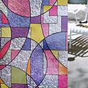 Χαμηλού Κόστους Προβολείς-Window Film & αυτοκόλλητα Διακόσμηση Ρετρό Γεωμετρικό PVC / Vinyl Αυτοκόλλητο παραθύρου
