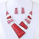 billiga Jewelry Set-Dam Smycken Set damer Mode Euramerikansk Elegant örhängen Smycken Röd / Blå Till Party Dagligen