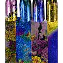 ราคาถูก เพชรประดับและของตกแต่ง-4pcs/set สติกเกอร์ สติกเกอร์ฟอยล์ เล็บ ทำเล็บมือเล็บเท้า การออกแบบทางด้านแฟชั่น / ที่เป็นประกาย Glitter เสน่ห์ / Nail Decals ทุกวัน / ง่าย / ประจำวัน