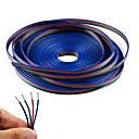 baratos Bases & Conectores para Lâmpadas-kwb 10m 4-pin rgb cabo de extensão cabo de fio para 5050 3528 cor mudando luz de tira conduzida flexível