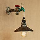 ราคาถูก เชิงเทียนติดผนัง-โคมไฟติดผนังแบบชนบท / แบบที่พัก / แบบโบราณ / ประเทศ& sconces ผนังโลหะในร่มแสง 220v / 110v 40w