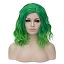 ราคาถูก วิกผมสังเคราะห์-วิกผมสังเคราะห์ ผมปลอม Ombre Short Green สังเคราะห์ สำหรับผู้หญิง Ombre