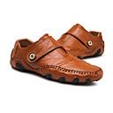 ราคาถูก รองเท้าแตะ & Loafersสำหรับผู้ชาย-สำหรับผู้ชาย แน๊บป้า Leather ฤดูใบไม้ผลิ / ฤดูร้อน / ตก ไม่เป็นทางการ / ความสะดวกสบาย รองเท้าส้นเตี้ยทำมาจากหนังและรองเท้าสวมแบบไม่มีเชือก วสำหรับเดิน สีดำ / สีน้ำตาล