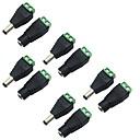 billige LED Økende Lamper-5 pakke 5.5 x 2.1mm fat strøm 12v mann til kvinnelig DC strømkontakt adapter kontaktplugg for CCTV sikkerhet kamera led stripe