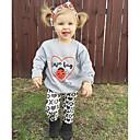 Χαμηλού Κόστους Σετ ρούχων για κορίτσια-Νήπιο Κοριτσίστικα Κινούμενα σχέδια Animal Print Πάρτι Καθημερινά Εξόδου Ζώο Στάμπα Μακρυμάνικο Κανονικό Κανονικό Βαμβάκι Σετ Ρούχων Γκρίζο