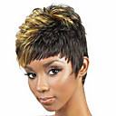 Χαμηλού Κόστους Χωρίς κάλυμμα-Συνθετικές Περούκες Σγουρά Σγουρά Περούκα Κοντό Ξανθό Συνθετικά μαλλιά Γυναικεία Μαύρο