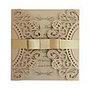 povoljno Pozivnice za vjenčanje-Gate-Fold Vjenčanje Pozivnice Pozivnice Čestitke Čestitke za Majčin Dan Pozivnice za babinje Pozivnice za vjenčanje Pozivnice za zaruke