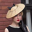 billiga Europeiska kostymer-Korgarbete / Nät Kentucky Derby Hat / fascinators / hattar med Blomma 1st Bröllop / Speciellt Tillfälle / Casual Hårbonad