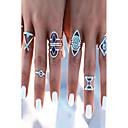 billige Fashion Rings-Dame Ring Sølv Legering Geometrisk Form damer Uvanlig Unikt design Daglig Avslappet Smykker