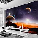 ราคาถูก ภาพจิตรกรรมฝาผนัง-กาแลคซีโลกที่กำหนดเอง 3D ที่มีขนาดใหญ่ wallcovering ภาพผนังจิตรกรรมฝาผนังพอดีร้านอาหารห้องนอนสำนักงานทัศนียภาพธรรมชาติ