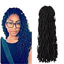 Χαμηλού Κόστους Πλεξούδες μαλλιών-Μαλλιά για πλεξούδες Με βελονάκι Dread Locks Dreadlocks / Faux Locs Συνθετικά μαλλιά 20 ρίζες / πακέτο 1 κουτί / πακέτο μαλλιά Πλεξούδες Επέκταση Dreadlock Συνθετικά ράστα Συνθετικά πλεκτά ράστα
