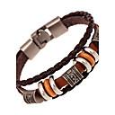 billiga Modearmband-Herr Läder Armband Tvinnad vävd Natur Mode Läder Armband Smycken Brun Till Speciellt Tillfälle Gåva Sport