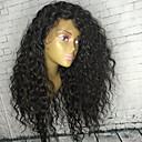 povoljno Praktični poklončići-Ljudska kosa Perika pune čipke bez ljepila Full Lace Perika stil Brazilska kosa Kovrčav Perika 130% Gustoća kose s dječjom kosom Prirodna linija za kosu Afro-američka perika 100% rađeno rukom Žene