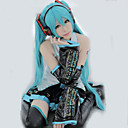 povoljno Movie & TV Theme Costumes-Inspirirana Vocaloid Hatsune Miku Video igra Cosplay nošnje Cosplay Suits Kolaž / Anime Bez rukávů Bluza Suknja Rukavi Kostimi / Kravata / Pojas / Stockings / Pojas / Stockings
