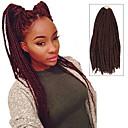 """Χαμηλού Κόστους Πλεξούδες μαλλιών-Πλεξούδες Twist Μαλλιά πλεξούδες Box Πλεξούδες 24 """" 100% μαλλιά Kanekalon Μαύρο / Βουργουνδία Μαλλιά για πλεξούδες Προσθετική μαλλιών"""