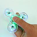ราคาถูก ฟิดเจตสปินเนอร์-Fidget Spinner เครื่องปั่นด้ายมือ สำหรับเวลาฆ่า ความเครียดและความวิตกกังวลบรรเทา โฟกัสของเล่น เครื่องปั่นด้าย LED พลาสติก คลาสสิก ผู้ใหญ่ Toy ของขวัญ / หลอดไฟ LED