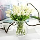 Χαμηλού Κόστους Ψεύτικα Λουλούδια-Ψεύτικα λουλούδια 10 Κλαδί Μοντέρνο Στυλ Τουλίπες Λουλούδι για Τραπέζι