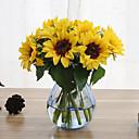 Χαμηλού Κόστους Ψεύτικα Λουλούδια-6 κλαδιά ηλιοτρόπιο τεχνητά λουλούδια σπίτι διακόσμηση γαμήλια προμήθεια