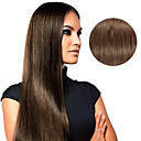 billiga Hårförlängningar med clip-in-Klämma in Människohår förlängningar Rak Hårförlängningar av äkta hår Äkta hår Dam - Kastanj brunt