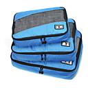 billiga Duffelväskor-3 delar Resväska / Travel Organizer / Bagageorganisatör Stor kapacitet / Bärbar / Vikbar Kläder Tyg / Polyester / Nättyg Resor / Hållbar / Stor storlek Organizer Väska / Small Size Organizer Bag