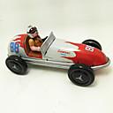 ราคาถูก ของเล่นไขลาน-รถของเล่น Trekk-opp-leker รถแข่ง เรทโทร รถยนต์ เมทัลลิก เหล็ก วินเทจ Retro 1 pcs สำหรับเด็ก เด็กผู้ชาย เด็กผู้หญิง Toy ของขวัญ