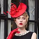 זול הד פיס למסיבות-עור / בד קנטקי דרבי כובע / מפגשים / כובעים עם 1 חתונה / אירוע מיוחד / קזו'אל כיסוי ראש
