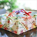 billiga Christmas Gifts-Rund Fyrkantig Pyramid Kortpapper Favörhållare med Tryck Favör askar Presentkartonger