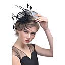 Χαμηλού Κόστους Καπέλα και Διακοσμητικά-Γυναικεία Kentucky Derby Καπέλο čvrsta Boja Mesh Φτερό Ύφασμα Πάρτι