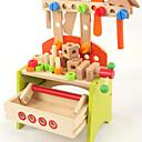 ราคาถูก ของเล่นแต่งตัวตุ๊กตา และของเล่นเสริมสร้างพัฒนาการ-อุปกรณ์ก่อสร้าง Toy Tools กล่องเครื่องมือ Safety ทำด้วยไม้ สำหรับเด็ก เด็กผู้ชาย Toy ของขวัญ