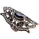 billige Ringer i sterlingsølv-Dame Statement Ring Ring tommelfingerring Safir Rød Grønn Blå Glass Obsidian Legering Geometrisk Form Statement damer Personalisert Fest jubileum Smykker geometriske Solitaire Marquise magi