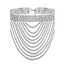 povoljno Modne ogrlice-Žene Choker oglice Posude Tekuća srebrna ogrlica dame Moda Pozlaćeni Imitacija dijamanta Zlato Pink Ogrlice Jewelry Za Party Special Occasion Dar Dnevno