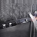 billige Island Lights-Badekarskran - Moderne Krom Udspredt Keramisk Ventil Bath Shower Mixer Taps / Messing / Tre Håndtak fem hull