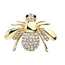 povoljno Moderni broševi-Žene Kristal Broševi Europska Slatka Style Umjetno drago kamenje Broš Jewelry Pink Zlatan Za Vjenčanje Party Rođendan Angažman Dar Dnevno