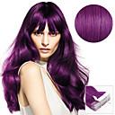 ราคาถูก ผมสำหรับต่อผมแบบกิ๊บ-เทปใน ส่วนขยายของผมมนุษย์ Straight ผมต่อแท้ วิกผมจริง สำหรับผู้หญิง - Purple