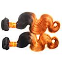billiga En Pack Lösning-Malaysiskt hår Kroppsvågor Remy-hår Nyans Nyans Hårförlängning av äkta hår Människohår förlängningar
