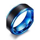 povoljno Muško prstenje-Muškarci Prsten Plava Izabrane Boja Tikovina Volfram čelik Krug Circle Shape Geometric Shape Personalized Osnovni Simple Style Party godišnjica Jewelry