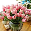Χαμηλού Κόστους Ψεύτικα Λουλούδια-τουλίπα τεχνητά λουλούδια 10 υποκατάστημα μοντέρνο στιλ τουλίπες επιτραπέζιο λουλ