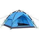 billiga Tält och vindskydd-DesertFox® 4 person Automatisk Tält Utomhus Vattentät Vindtät Regnsäker Dubbelt lager Automatisk Kupol Tält 2000-3000 mm för Camping oxford 200*180*130 cm