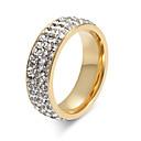 Χαμηλού Κόστους Φορέματα για κορίτσια-Γυναικεία Δαχτυλίδι Κρυστάλλινο Χρυσό Ασημί Τιτάνιο Ατσάλι Circle Shape κυρίες Εξατομικευόμενο Βασικό Γάμου Πάρτι Κοσμήματα Ετοιμάζω τον δρόμον