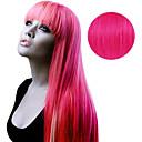 ราคาถูก ผมสำหรับต่อผมแบบกิ๊บ-เทปใน ส่วนขยายของผมมนุษย์ Straight ผมต่อแท้ วิกผมจริง สำหรับผู้หญิง - Pink