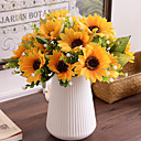 billige Kunstig Blomst-Kunstige blomster 1 Gren Pastorale Stilen Solsikker Bordblomst