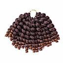 billiga Syntetiska peruker utan hätta-Hår till flätning Lockigt Virkad twist Flätor Syntetiskt hår 20 rötter / pack 1pc / förpackning Hårflätor Korta Ombre flätat hår Jamaican Bounce-hår