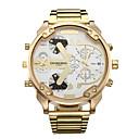 ราคาถูก นาฬิกากีฬา-สำหรับผู้ชาย นาฬิกาแนวสปอร์ต นาฬิกาทหาร นาฬิกาข้อมือ นาฬิกาอิเล็กทรอนิกส์ (Quartz) ปฏิทิน แสดงสองเวลา เท่ห์ สแตนเลส วงดนตรี ระบบอนาล็อก ความหรูหรา วินเทจ ไม่เป็นทางการ ทอง - ทอง / สีขาว